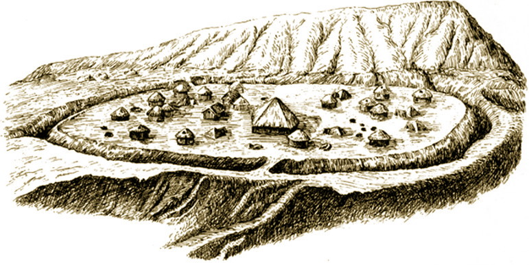 Ricostruzione del villaggio neolitico di Banpo