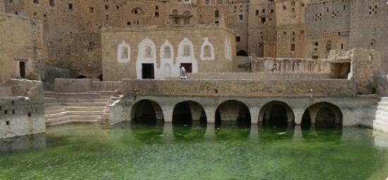 Particolare della arcate della cisterna di Hababa
