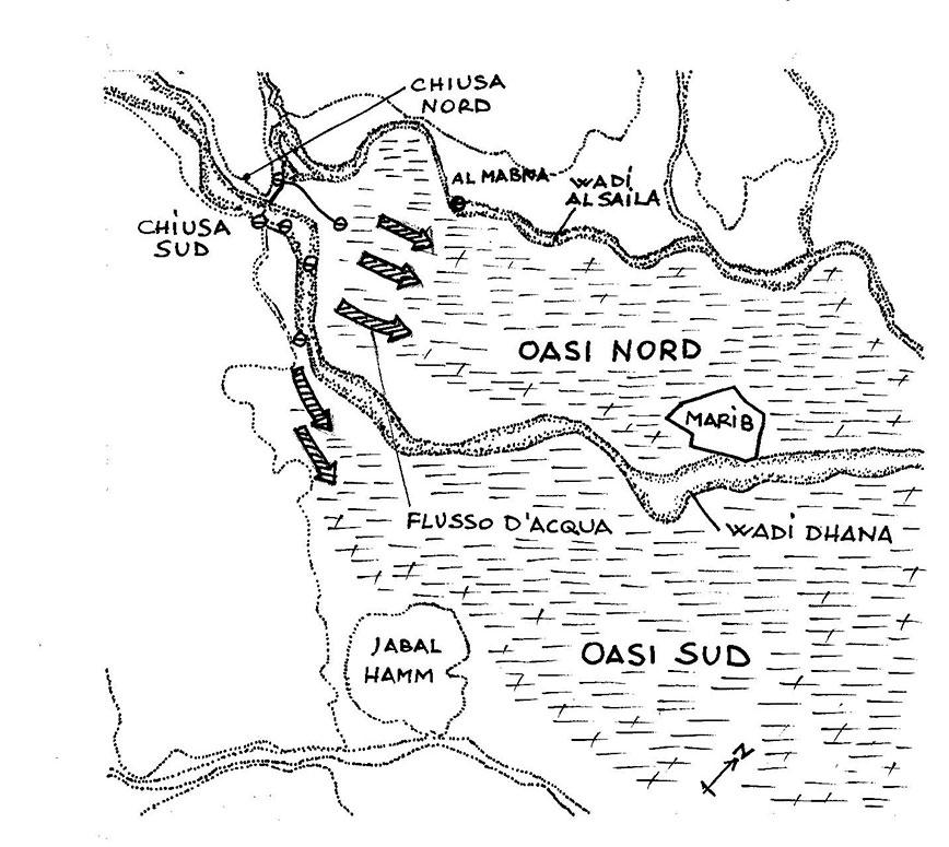 Antica oasi di Marib - diga