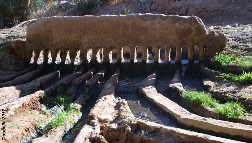 Pettine ripartitore delle quote d'acqua chiamato kesria