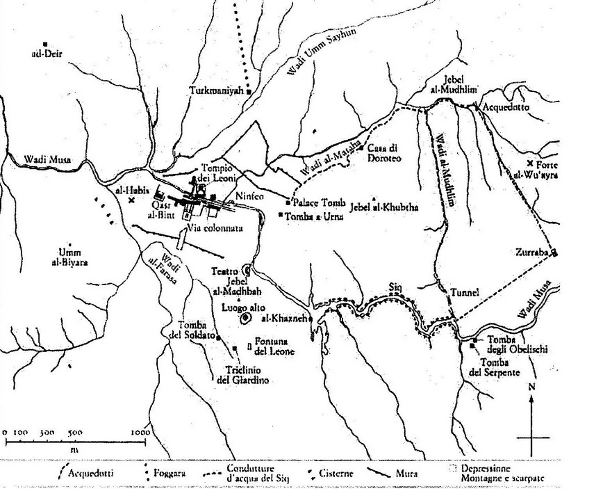 Planimetria di Petra