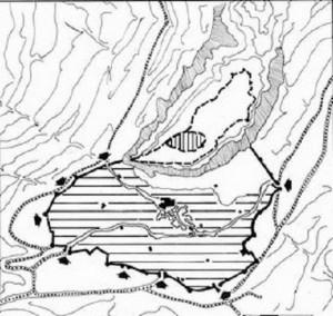 Planimetria dell'antica città di Thula