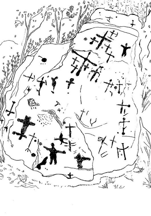 Disegno del Masso di Terrinca