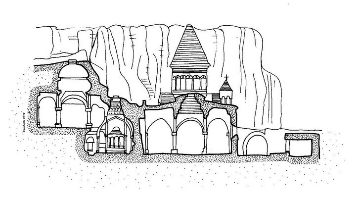 Sezione della chiesa di San Gherard