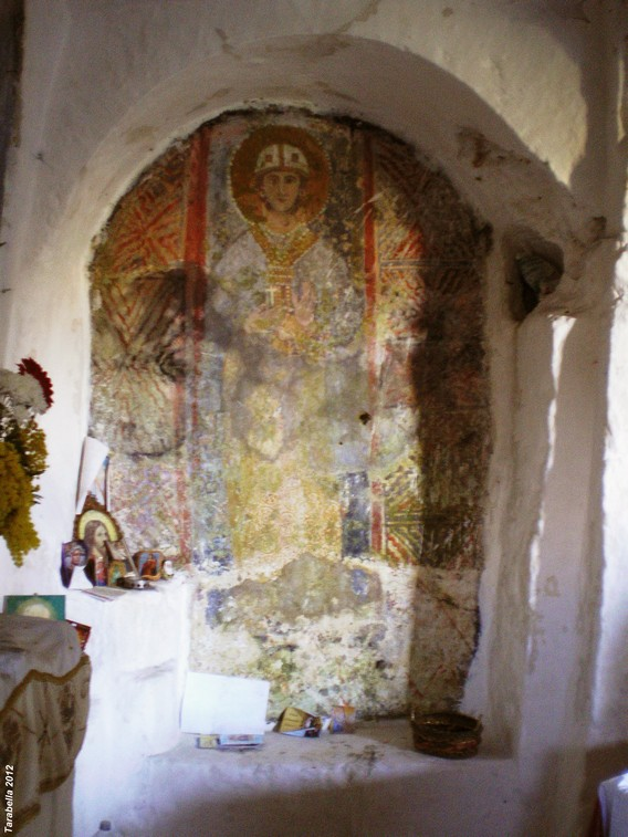 Madonna delle 7 Lampade - affresco
