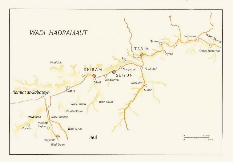 Planimetria della Valle dell'Hadramaut