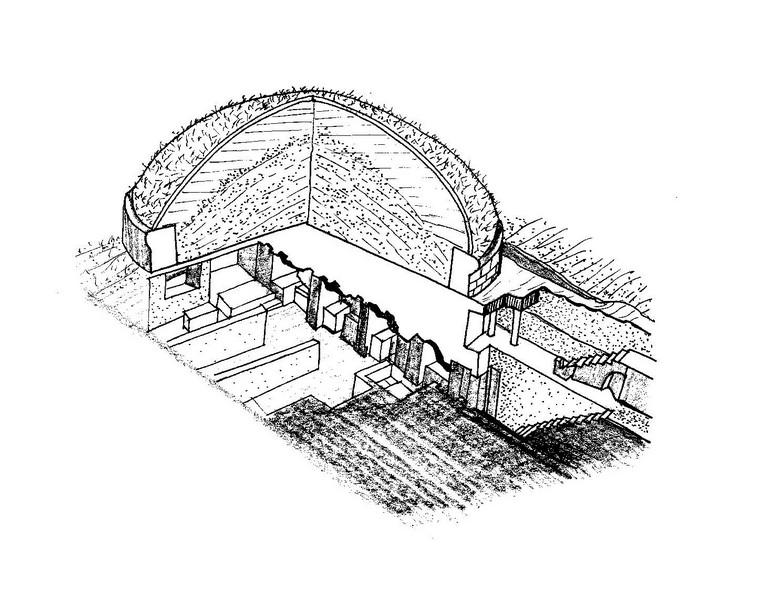 Tumulo di Cerveteri (Lazio)