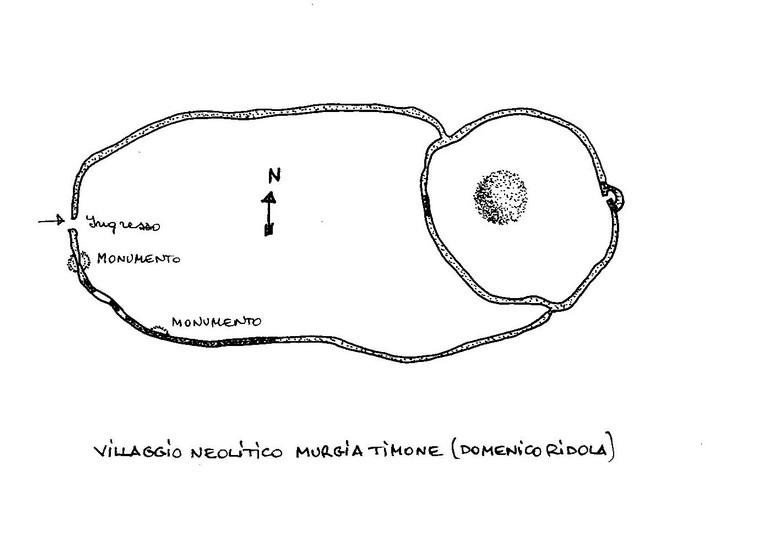 Ricostruzione del villaggio neolitico di Murgia Timone secondo Domenico Ridola