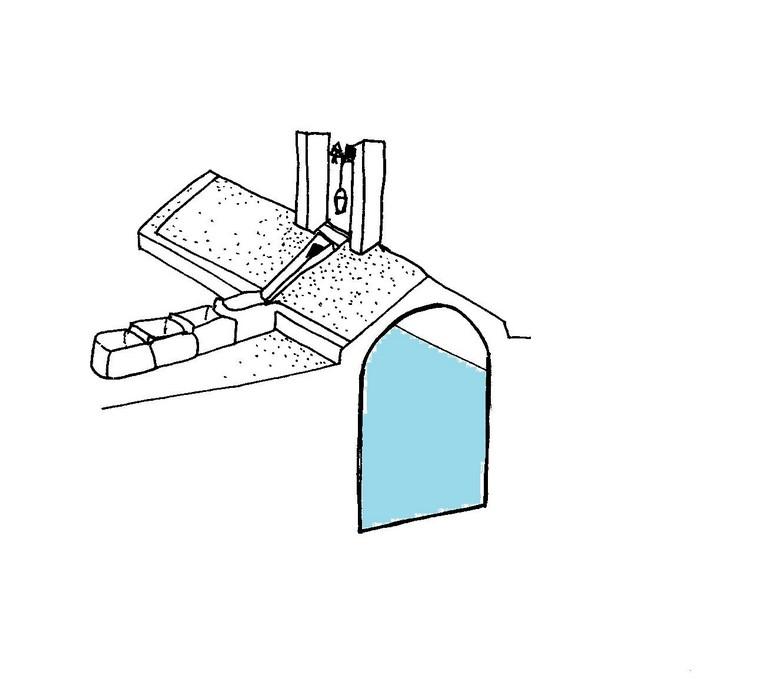 Cisterna a tetto ( Matera)