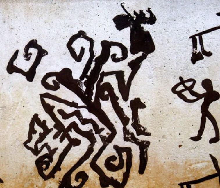 Particolare di pittura ( Porto Badisco)