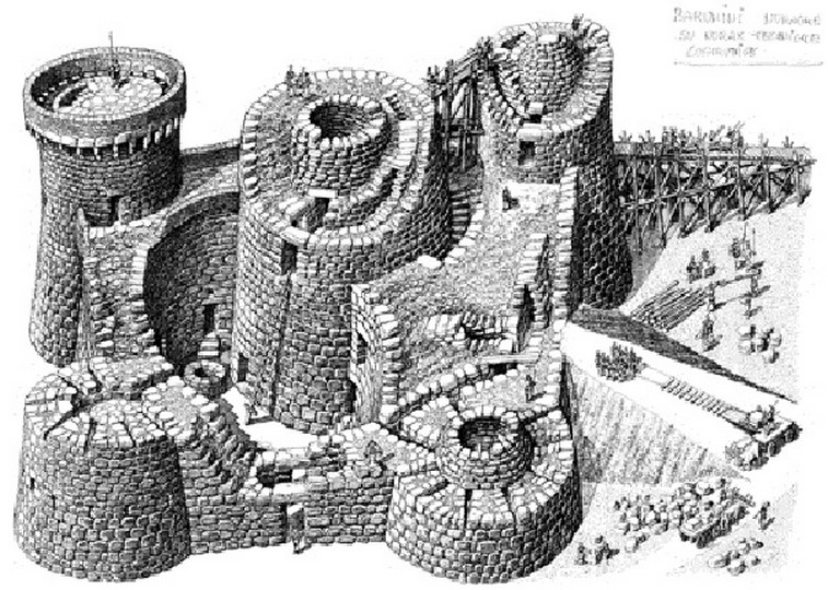 Assonometria di Barumini (Sardegna)