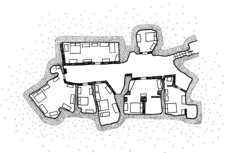 Quartiere a pozzo a Matera