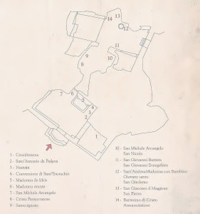 Planimetria di Santa Maria de Idris e San Giovanni in Monterrone