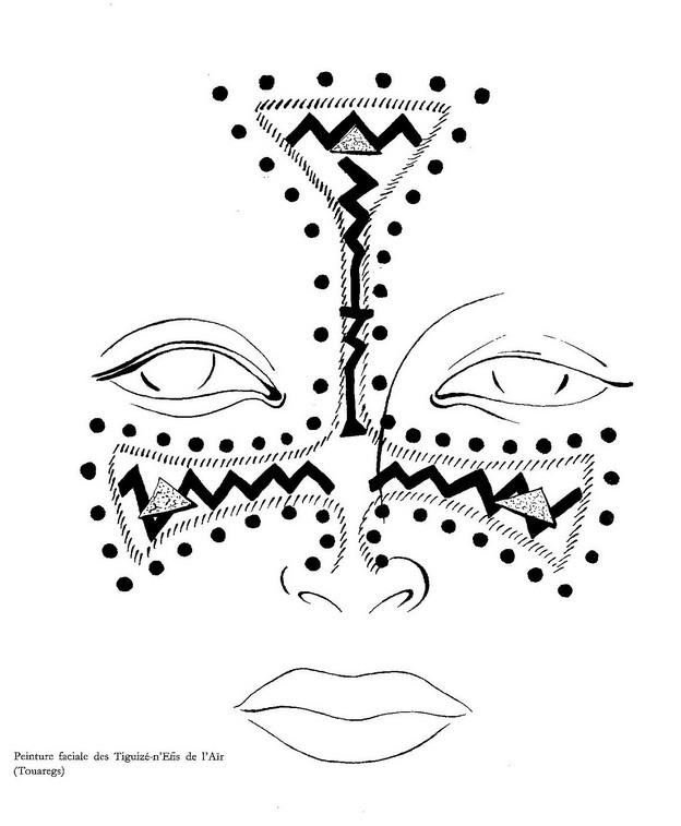 Pittura facciale Tuareg