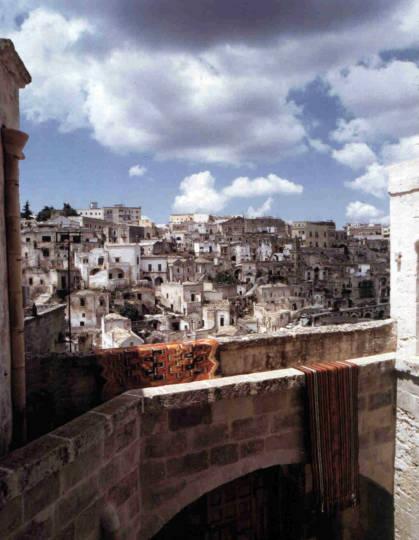 La vista verso la Civita di Matera
