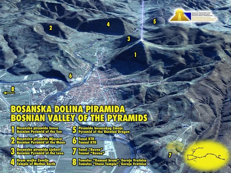 Planimetria della Valle di Visoko