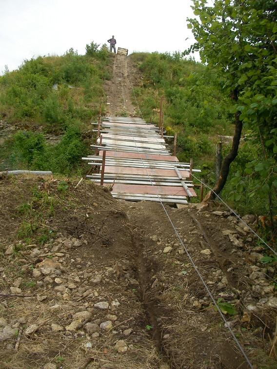 Ponte per il trasporto del materiale di risulta