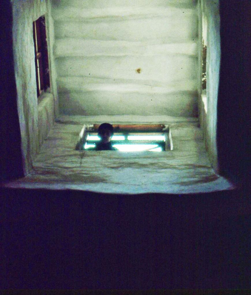 Yemen- Cavità sotterranea per le abluzioni. Tutte le moschee hanno sempre camere ipogee che raccolgono l'acqua. Spesso sono dispositivi che esistevano già da prima e sono stati costruiti per i templi sabei