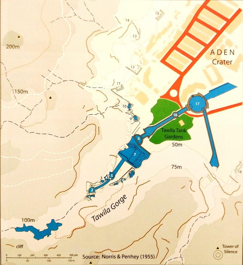 Rappresentazione grafica delle cisterne di Aden (Yemen)
