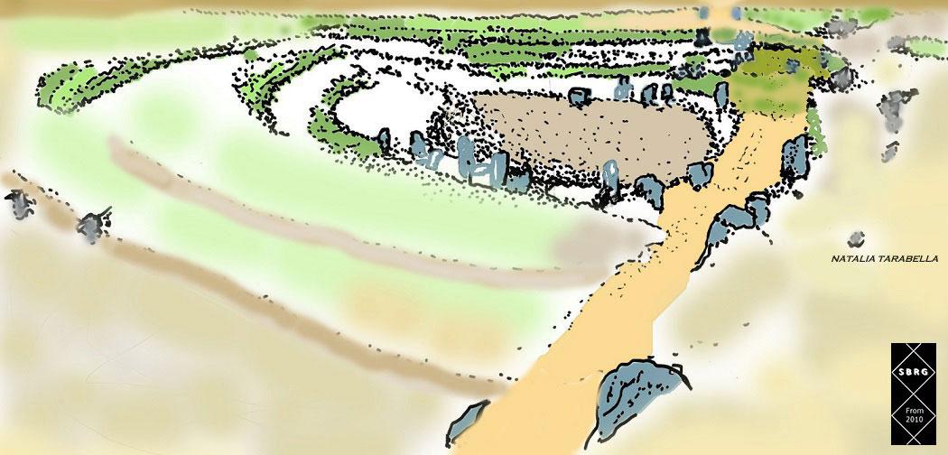 Dolina di Bugomili, disegno di Natalia Tarabella