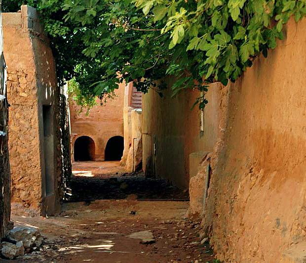 Strada-torrente nella Valle dello M'zab