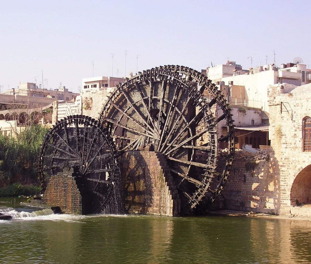 Una noria della città di Hama (Siria)