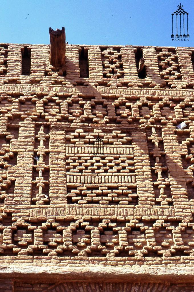 Tozeur (Tunisia) Particolare di una facciata in mattoni di terra