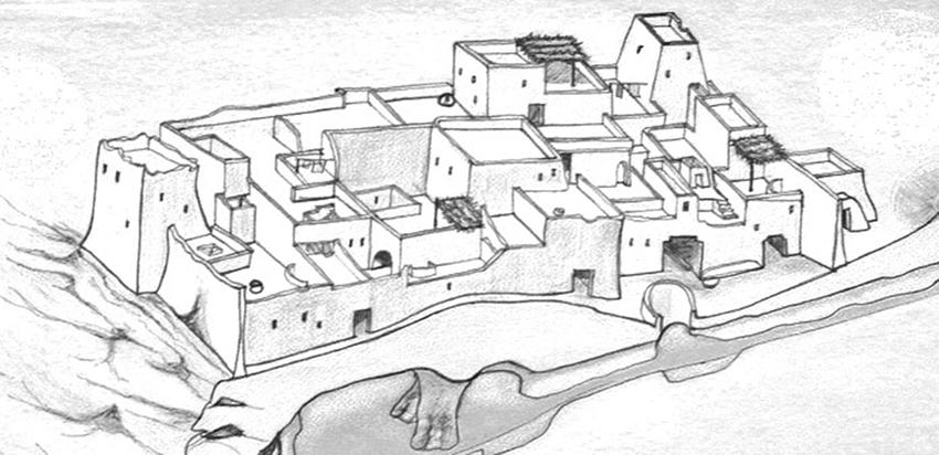 Ricostruzione dell'abitato nell'oasi