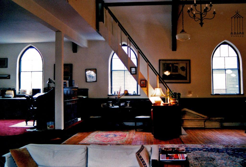 Interno di un'abitazione tradizionale nel New England (Stati Uniti)