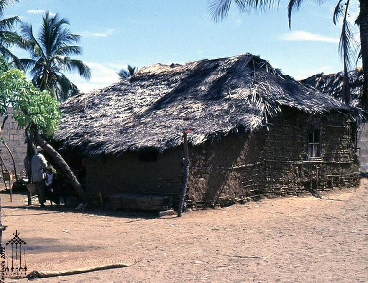 Capanna tradizionale in fibra vegetale - Villaggio di pescatori in Kenya