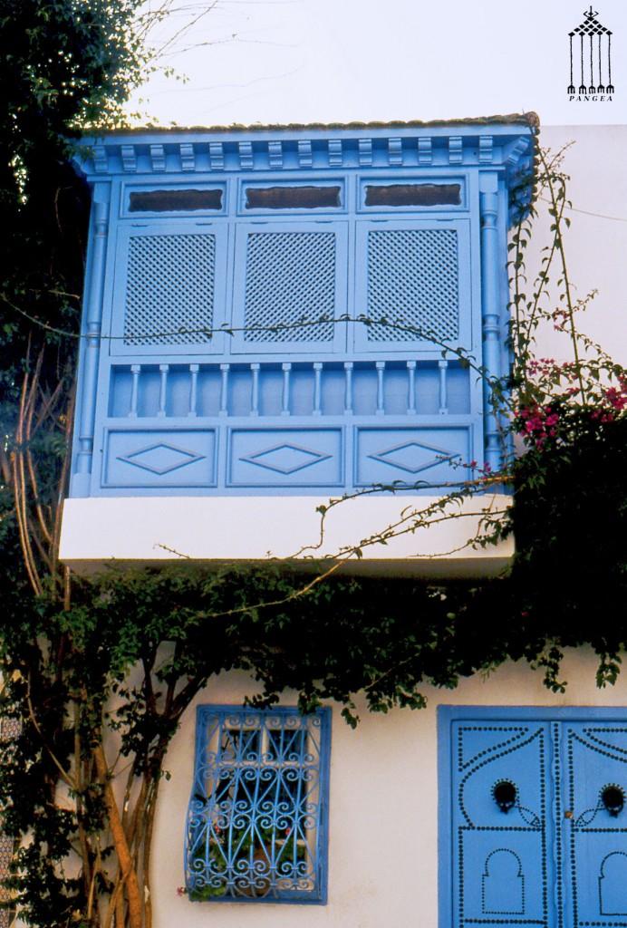 Sidi Bou Said particolare di ''mashrabiya'' (Tunisia)
