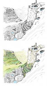 Thula, il sistema di gestione dell'acqua dall'acropoli fino alla città bassa