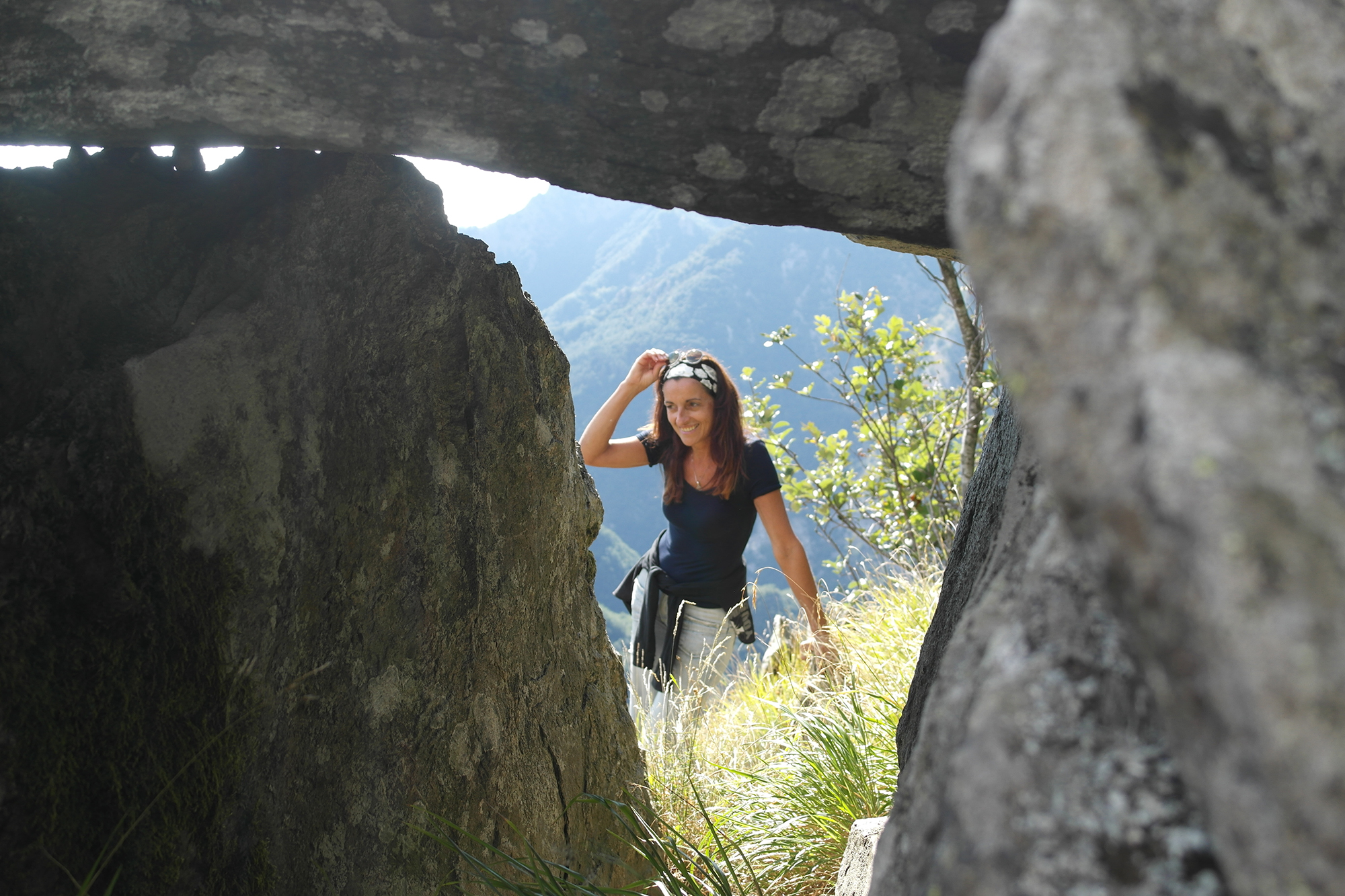 Arch. Natalia Tarabella on back of the dolmen