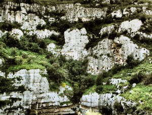 The Bronze Age site of Pantalica in Sicily, situated along the gorges of the Hyblaean mountains, locally called caves, is made up of about 5,000 hypogeal cavities carved out of the slope